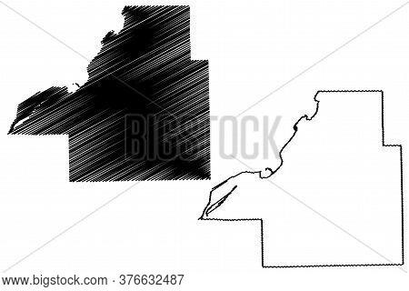 Tazewell County, Illinois (u.s. County, United States Of America, Usa, U.s., Us) Map Vector Illustra