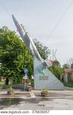 Zamosc, Poland - June 12, 2020: Monument To The Co-authors Of The History And Achievements Of The Te