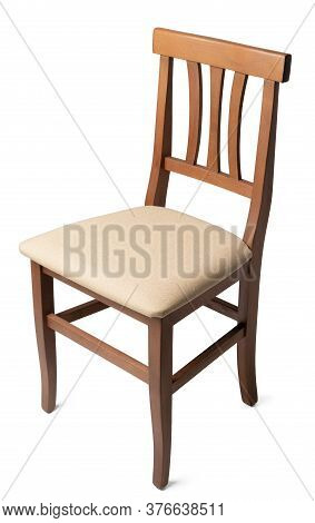 Elegant Comfortable Chair Isolated On White Background