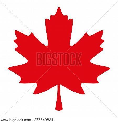 Red Maple Leaf. Canadian Symbol - Vector Illustration