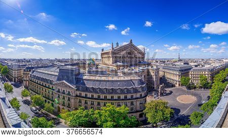 Panoramic View At Central Paris On A Sunny Day
