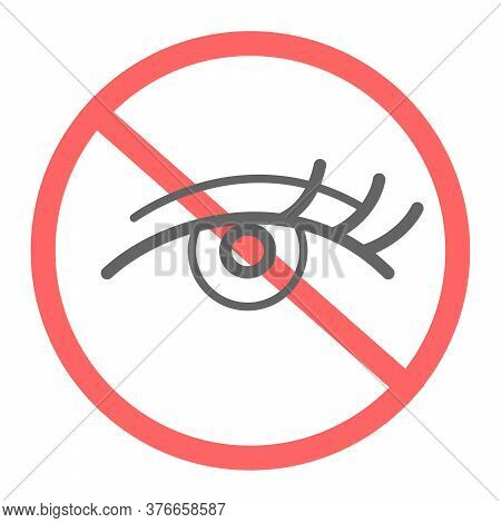 No Access Pictogram. Simple Eye Icon Crossed With Line. You Dont Have Permission To Look.