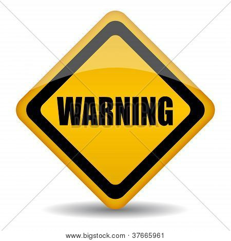 Vector warning sign