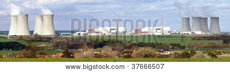 panoramatic view of nuclear power plant