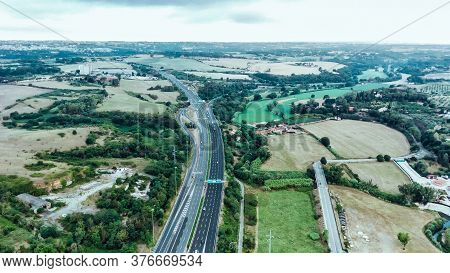 Photo Of The Road Junction From A Birds Eye View.