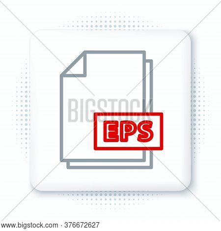 Line Eps File Document. Download Eps Button Icon Isolated On White Background. Eps File Symbol. Colo