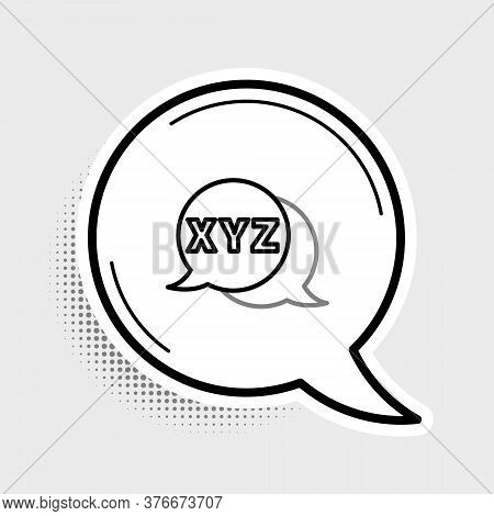 Line Xyz Coordinate System Icon Isolated On Grey Background. Xyz Axis For Graph Statistics Display.