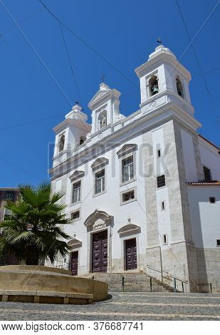 Sao Miguel Church In Alfama, The Oldest District Of Lisbon, Portugal.