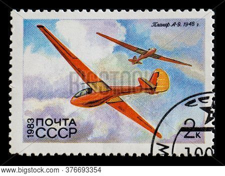Russia, Ussr - Circa 1983: A Postage Stamp From Ussr Showing Glider Antonov A-9 1948