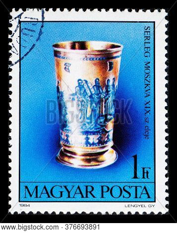 Hungary - Circa 1984: A Postage Stamp From Hungary Showing Chalice From Moscow 19th Century