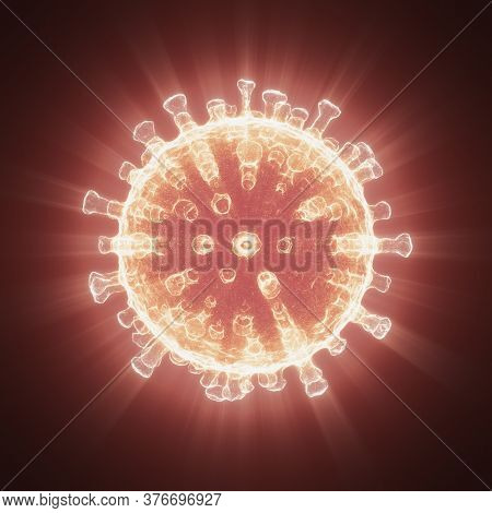Viral Structure. Viral Particle Is Made Up Of A Nucleus Of Nucleic Acid (dna Or Rna) Surrounded By A