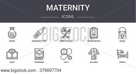 Maternity Concept Line Icons Set. Contains Icons Usable For Web, Logo, Ui Ux Such As Pregnancy Test,