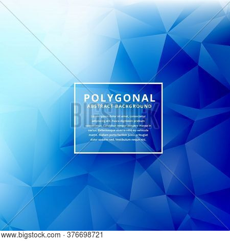 Blue Polygonal Shapes Polygonal Vector Design Illustration Background