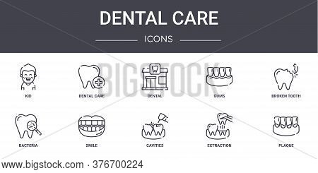 Dental Care Concept Line Icons Set. Contains Icons Usable For Web, Logo, Ui Ux Such As Dental Care,