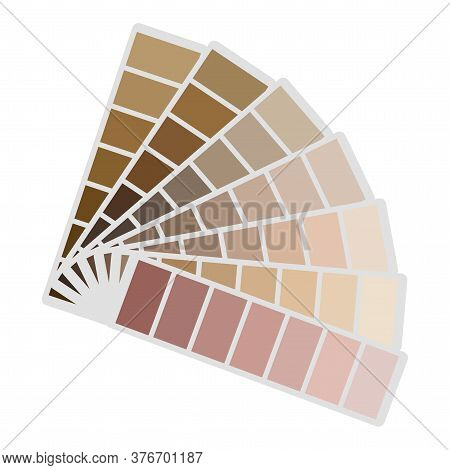 Color Palette. Vector Pattern Of Flowers. The Pattern Is Brown. Abstract Gradient Of Skin Colors. Be