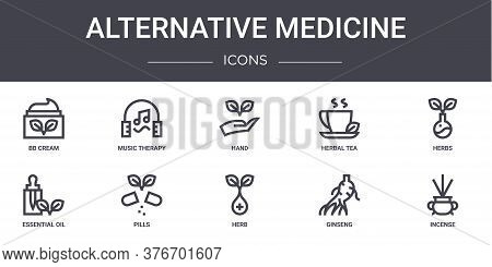 Alternative Medicine Concept Line Icons Set. Contains Icons Usable For Web, Logo, Ui Ux Such As Musi