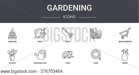Gardening Concept Line Icons Set. Contains Icons Usable For Web, Logo, Ui Ux Such As Snail, , Plants