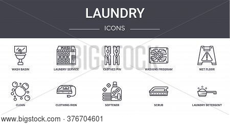 Laundry Concept Line Icons Set. Contains Icons Usable For Web, Logo, Ui Ux Such As Laundry Service,