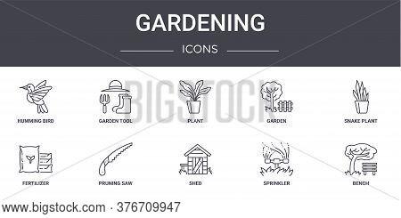 Gardening Concept Line Icons Set. Contains Icons Usable For Web, Logo, Ui Ux Such As Garden Tool, Ga