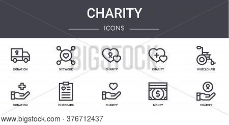 Charity Concept Line Icons Set. Contains Icons Usable For Web, Logo, Ui Ux Such As Network, Charity,