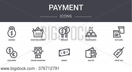 Payment Concept Line Icons Set. Contains Icons Usable For Web, Logo, Ui Ux Such As Shopping Basket,