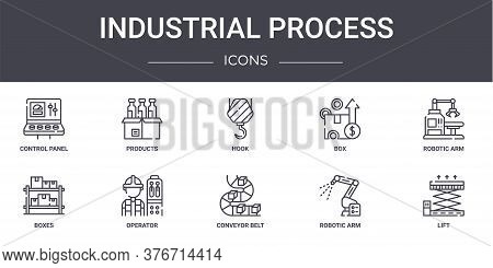 Industrial Process Concept Line Icons Set. Contains Icons Usable For Web, Logo, Ui Ux Such As Produc
