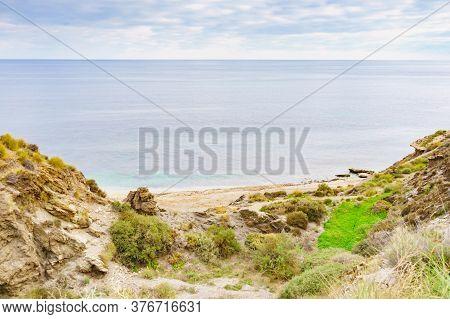 Almeria Coast With Rocks Formation, Spain