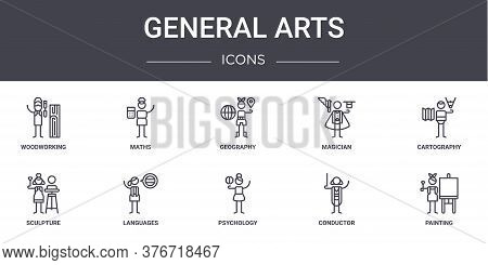 General Arts Concept Line Icons Set. Contains Icons Usable For Web, Logo, Ui Ux Such As Maths, Magic