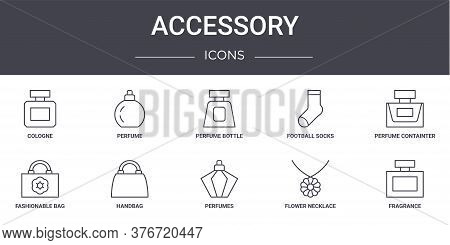 Accessory Concept Line Icons Set. Contains Icons Usable For Web, Logo, Ui Ux Such As Perfume, Footba