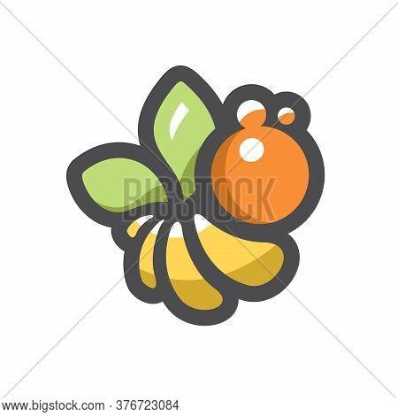 Bee Vector. Apiary Honeybee. Apis Cartoon Illustration