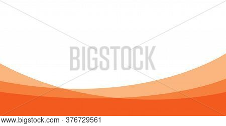 Flat Orange Background ,. Modern And Clean Orange Background