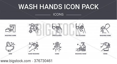 Wash Hands Icon Pack Concept Line Icons Set. Contains Icons Usable For Web, Logo, Ui Ux Such As , Ey