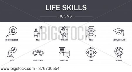 Life Skills Concept Line Icons Set. Contains Icons Usable For Web, Logo, Ui Ux Such As Man, Man, Man