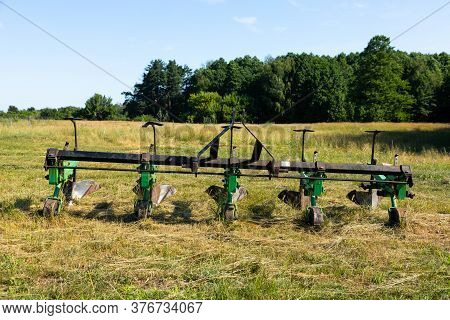 Plow For Land Cultivation, For A Tractor. Equipment.