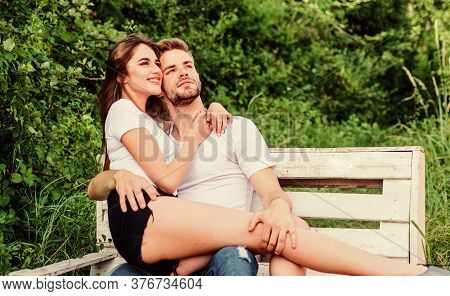Trust And Intimacy. Sensual Hug. Love And Romance Concept. Summer Vacation. Romantic Date In Park. H