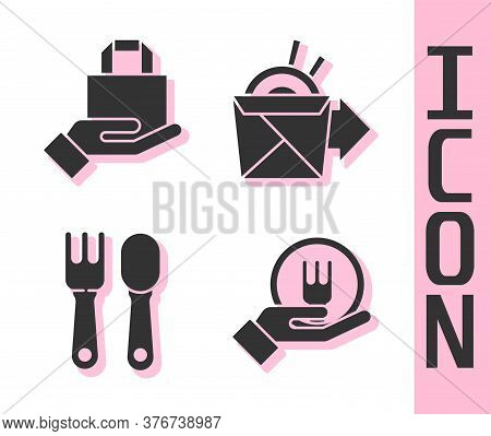 Set Online Ordering And Delivery, Online Ordering And Delivery, Fork And Spoon And Online Ordering N