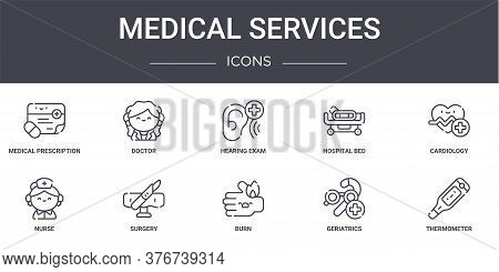 Medical Services Concept Line Icons Set. Contains Icons Usable For Web, Logo, Ui Ux Such As Doctor,