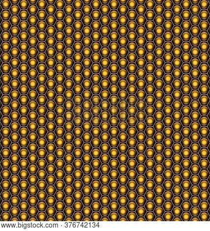Abstract Yellow Background With Light Metal Cells