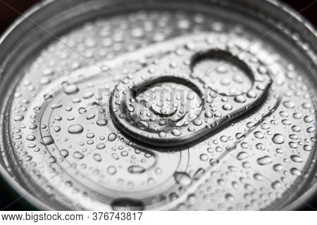 Aluminum Can With Carbonated Water, Energy Drinks Or Beer