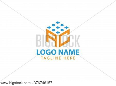 Business Corporate Letter Ac Logo Design Vector.letter Ac Cube Logo Vector Template. Letter Ac Logo
