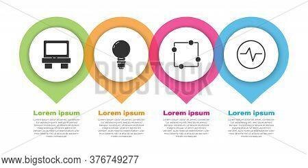 Set Fuse, Light Bulb With Concept Of Idea, Electric Circuit Scheme And Electric Circuit Scheme. Busi