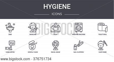 Hygiene Concept Line Icons Set. Contains Icons Usable For Web, Logo, Ui Ux Such As Skincare, Washing