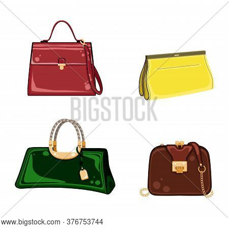 Woman Bags. Feminine Handbag For Shopping, Travel, Vacation. Ladies Handbag Collection Of Fashionabl