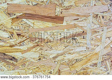 Texture Of Pressed Wooden Osb Plate, Wooden Panel Background.