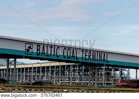 Latvia, Ventspils, July 16, 2020: Baltic Coal Terminal. Coal Terminal