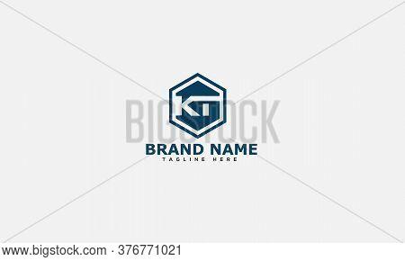 Kt Logo Design Template Vector Graphic Branding Element.