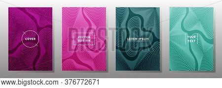 Minimal Covers Linear Design. Fluid Curve Shapes Geometric Lines Patterns. Gradient Backgrounds For