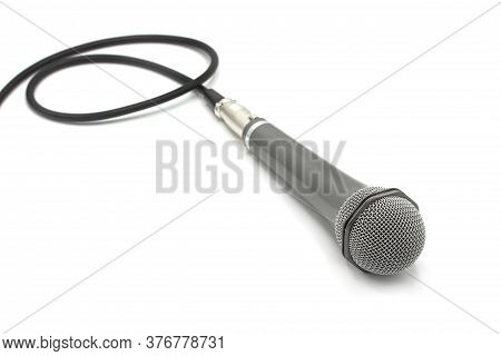 Microphone Isolated On White Background With Copy Space