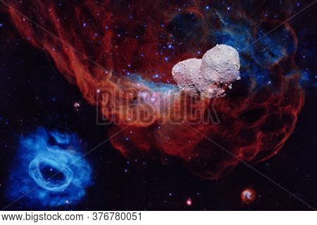 Asteroid. Science Fiction Cosmos. Elements Of This Image Furnished By Nasa.