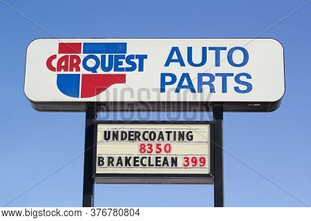 Truro, Canada - February 09, 2020: Carquest Auto Parts Outlet Sign. Carquest Corporation Is An Ameri